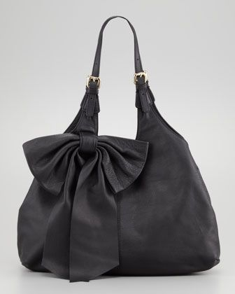fake hermes leather purses - Large-Bow Hobo Bag, Black by RED Valentino at Neiman Marcus. | La ...