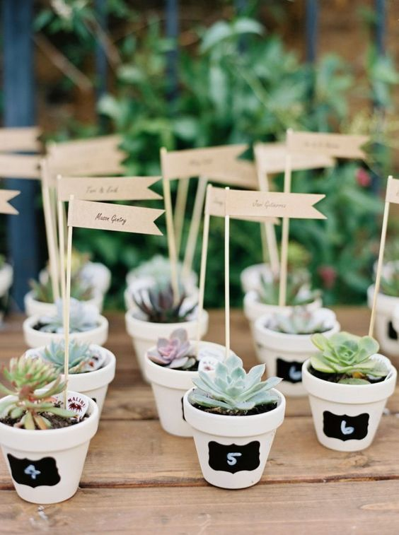Succulent favors: www.stylemepretty... | Photography: Mariel Hannah - www.marielhannahp…    For more wedding inspiration check out our wedding blog www.creativeweddingco.com