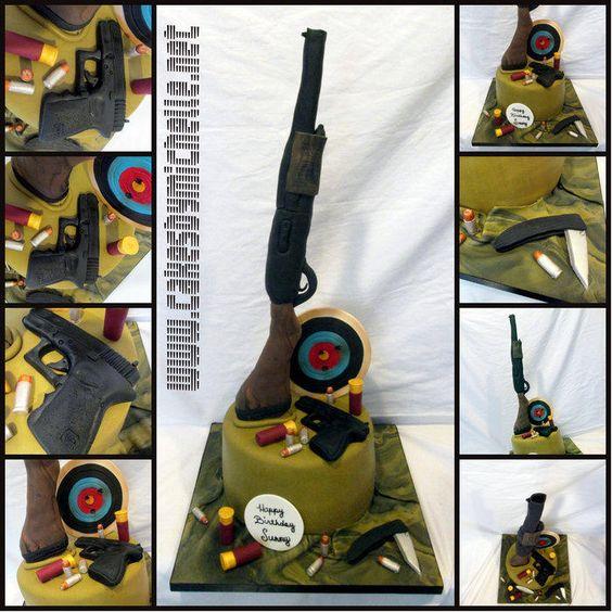 Gun cake - Cake by cakesbymichelle