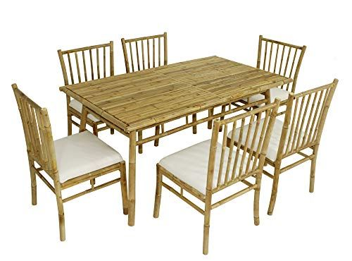 Statra S50n03 Bamboo 7 Piece Dining Set White Best Dining Table Usa 7 Piece Dining Set Buy Outdoor Furniture Patio Dining Set