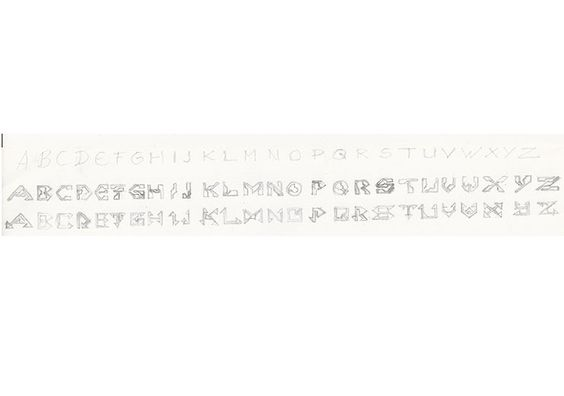 2 Arten A B C #ProfilSchriftarten #SciFi #Zeichnung #Zeichner #Zeichnen