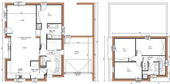 plan de maison en bois contemporaine maison de style contemporain proposant une surface d. Black Bedroom Furniture Sets. Home Design Ideas