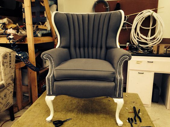 Reupholstered channel back chair | Have a seat ...