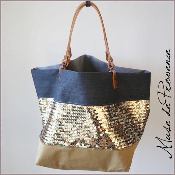 sac cabas de cr ateur en paillettes et tissu sacs pinterest paix et boutiques. Black Bedroom Furniture Sets. Home Design Ideas