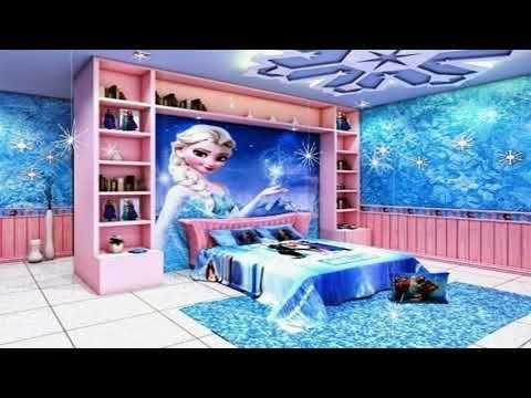 Frozen Themed Room Decor Ideas Youtube Frozen Bedroom Bedroom For Girls Kids Kids Bedroom Designs