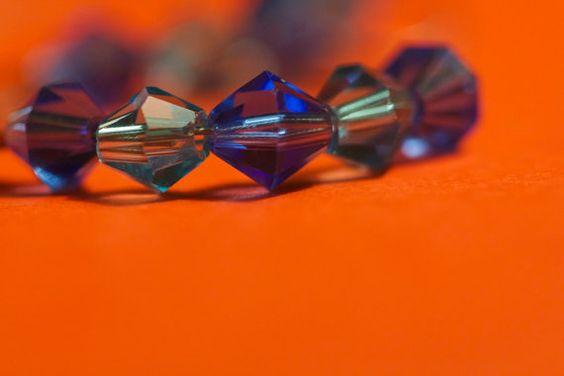 Blue crystal loop earrings by JewelryEtcByAmy on Etsy, $8.00