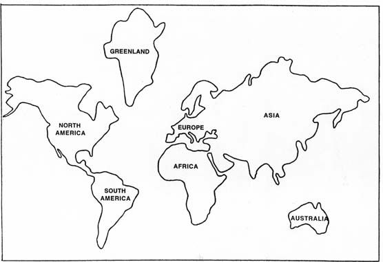 globe cut out template : Figure 1. Base Map for Terra ...