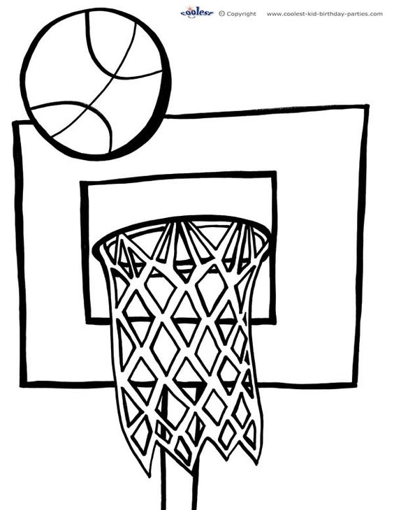 Awesome coloring and basketball on pinterest for Free printable basketball coloring pages