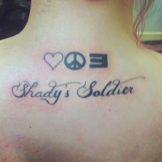 My Eminem Tattoo! Love, Peace, Shady ;