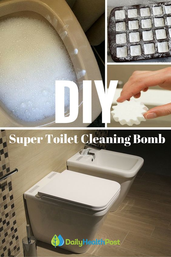 Toilets homemade and homemade toilet cleaner on pinterest - Diy toilet cleaning bombs ...