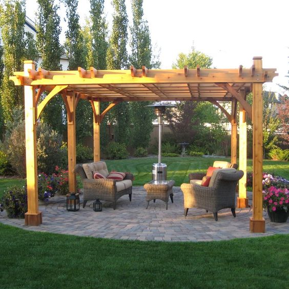 Outdoor Living Today Breeze 20 Ft. W x 12 Ft. D Solid Wood Pergola | Wayfair