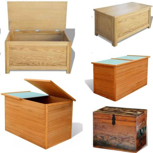 Wooden Storage Chest Trunk Oak Wood Bench Toy Box Furniture Organizer Bedroom Bedroom Storage Chest Wood Storage Furniture Bedroom Storage