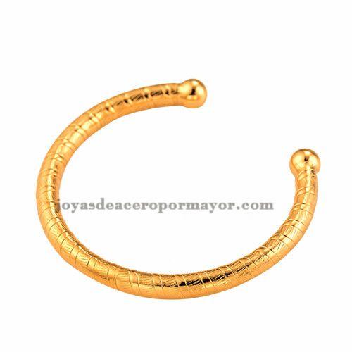 precios de pulseras de oro dorado en acero inoxidable venta al por mayor