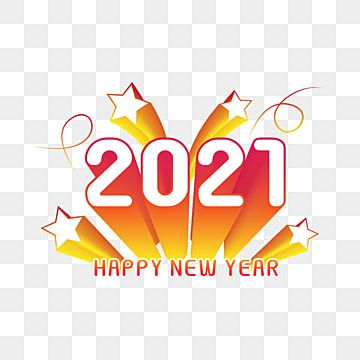 Happy New Year 2021 With Stars Happy New Year New 2021 Year Blonde Colors Png And Vector With Transparent Background For Free Download Happy New Year Text Happy New Year Background