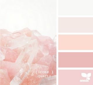 Lovely. peachy pink color palette