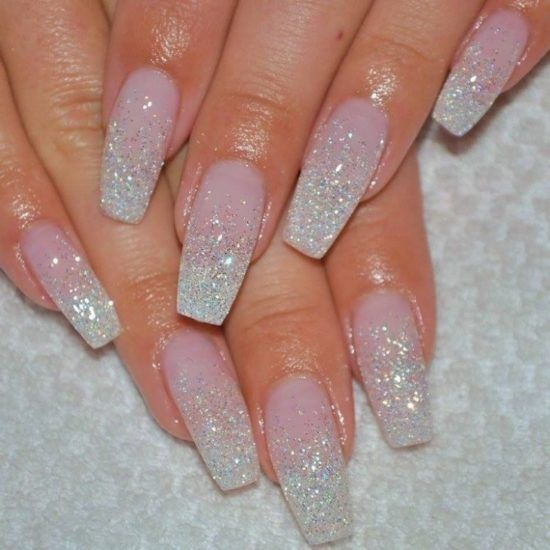 21 Simple And Fun Glitter Nail Designs Pink Acrylic Nails Ombre Gel Nails Nail Designs Glitter