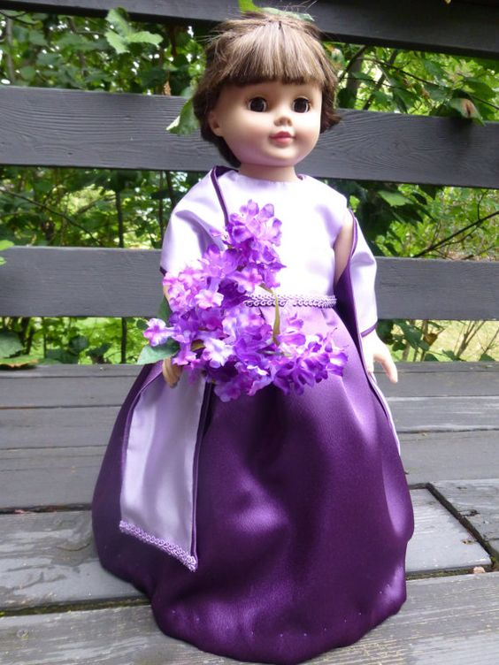 Palma Plum special occasion dress/ ball gown for by SewUniqueDolls