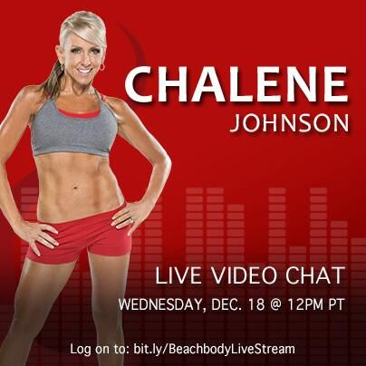 Chalene Johnson is chatting today! Use #AskChalene to ask her your questions and tune in here -> https://www.youtube.com/watch?v=xpOr4VmA390