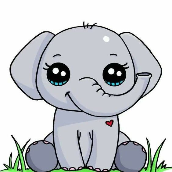 Elephanteau Dessin Kawaii Animaux 365 Dessins Kawaii Dessin