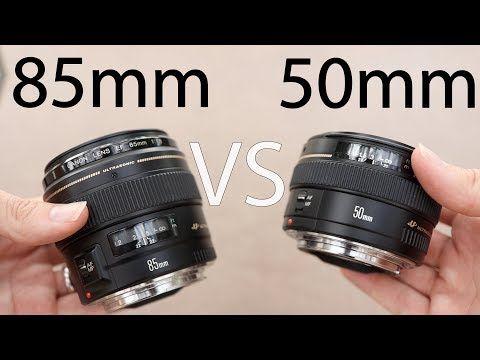 Canon 50mm F1 4 Vs Canon 85mm F1 8 Best Portrait Lens Youtube Photography Lenses Canon Dslr Photography Photography Lenses