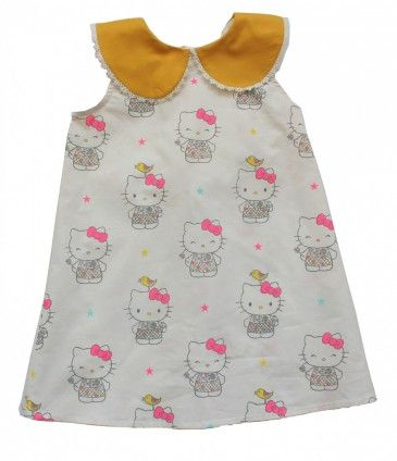 misha lulu hello kitty exclusive white star print peter pan collar dress