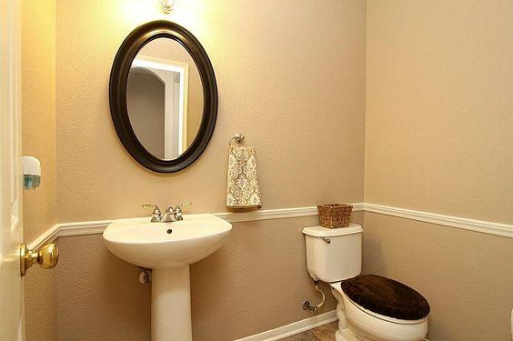 Chair rail bathroom ideas pinterest chairs for Bathroom chair rail ideas
