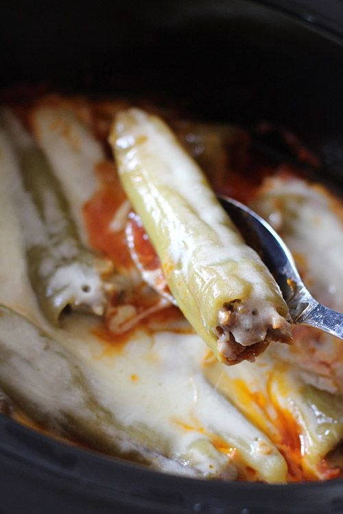 Crockpot Sausage-Stuffed Banana Peppers Recipe