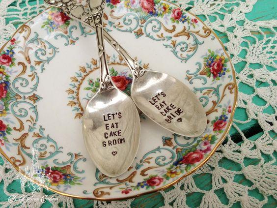 Bride & Groom Wedding Cake Spoons!