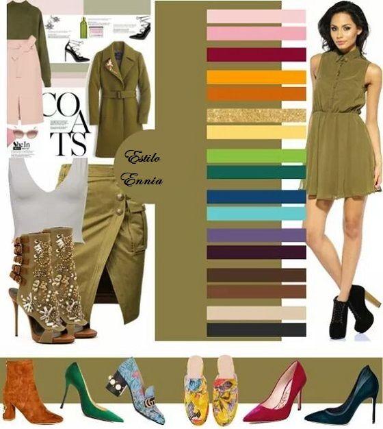Cómo combinar prendas de color caqui