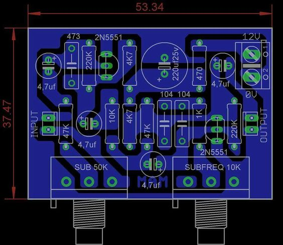 Subwoofer Filter using IC 4558 PCB Layout design Technology - pcb layout engineer sample resume