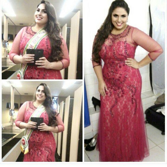 Vestido lindo que usei no #MissMGplussize2015 da @kalandrashowroom!!! Adoreeei  #plussize #modeloplussize #plusmodel #plussizemodel #curvymodel