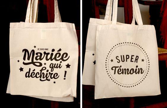 Tote Bag Super Témoins et Mariée qui déchire