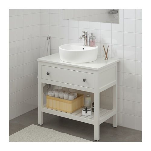 Ikea Hemnes White Open Sink Cabinet With 1 Drawer Bathroom Sink