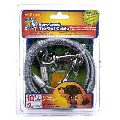 Dog Life Heavy Weight Tie-Out Cable - 20 Foot - http://www.thepuppy.org/dog-life-heavy-weight-tie-out-cable-20-foot/