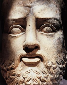 Mask of barbarian divinity, from Cagliari, Sardinia region, Italy PHOENICIAN