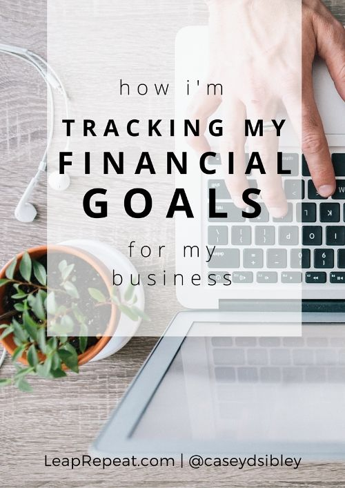How a friend of mine tracks the financial goals for her small business.