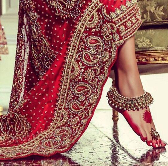 #Indian #wedding #dress ideas - payal jhanjhar lovely such a beautiful thing…