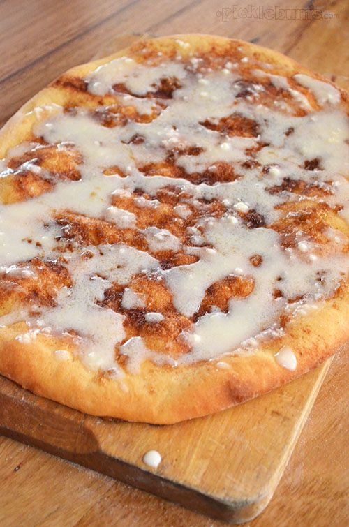 Cinnamon Pizza Recipe - a quicker way to get your homemade cinnamon scroll fix, without the scroll part!