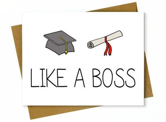 Funny Graduation Card / High School Graduation ...