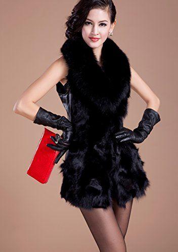 Furfox レディース フォックスファー 羊皮 皮革 レザー フォックスファーの毛襟 毛皮 ロング丈 ベスト チョッキ コート アウター (XL) Furfox http://www.amazon.co.jp/dp/B00MVGUHZ4/ref=cm_sw_r_pi_dp_RQckub1BP0JPB