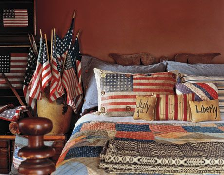 Decorating with american country antiques the pillow for Americana bedroom ideas