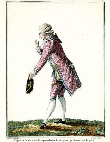 Man's costume of 18th century.