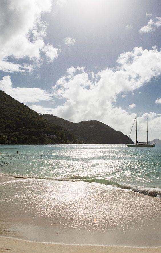 Sand, sun, and sea. Tortola, British Virgin Islands.