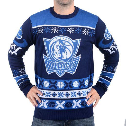 Dallas Mavericks Navy Thematic Ugly Christmas Sweater   Sports ...