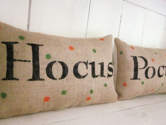 Halloween pillows burlap pillow decorative by 112FarmhouseLayne