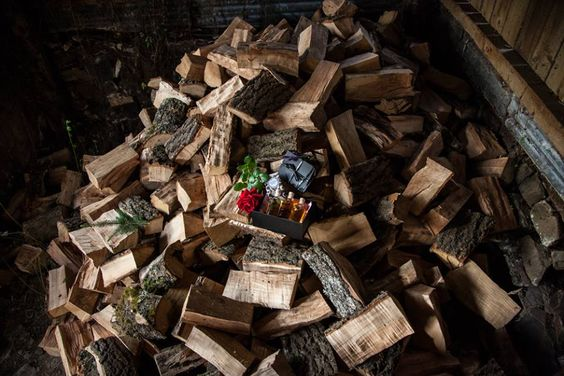 Moody pic of one of our new Christmas gift sets, taken in the wood shed :) #devon #photoshoot #behindthescenes #wood