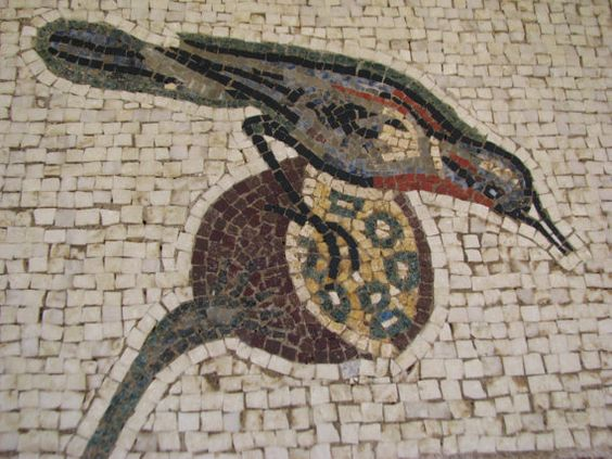 Bird marble mosaic  detail of the mosaic Nile in by GiannisBothos, €200.00