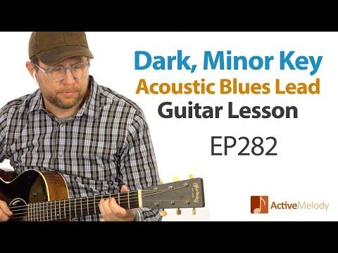 Learn A Dark Blues Lead On Acoustic Guitar Easy To Play Blues Guitar Lesson Ep282 Youtube Jazz Guitar Lessons Guitar Lessons Blues Guitar Lessons