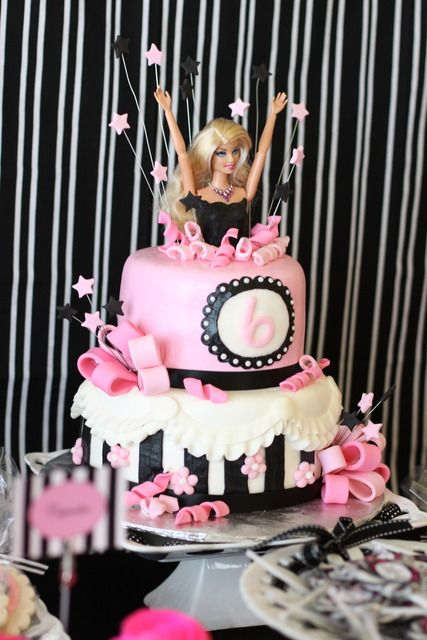 Barbie cake for my birthday!  Have to Love Barbie the bitch has everything!