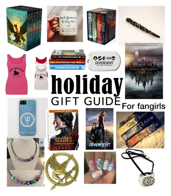 """""""Holiday gift guide for fangirls"""" by painterstape ❤ liked on Polyvore featuring Stele"""